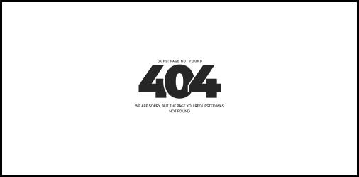 404 not found error page
