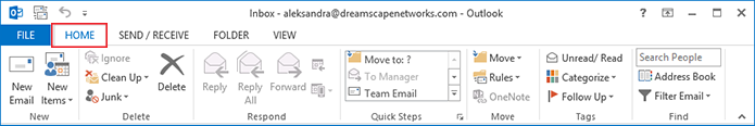 enable or disable the Outlook 2013 spam filter step 2