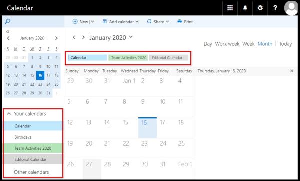 calendar to be displayed on viewing pane via OWA
