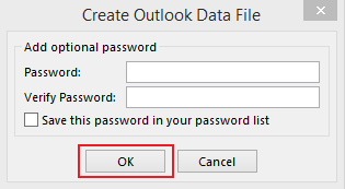 how to export data in Outlook 2013 step 7