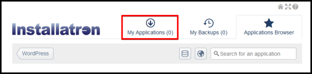 manage my applications installed in installatron