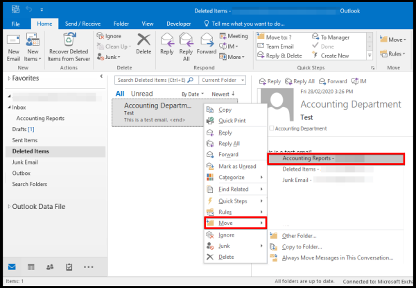 recover deleted emails options