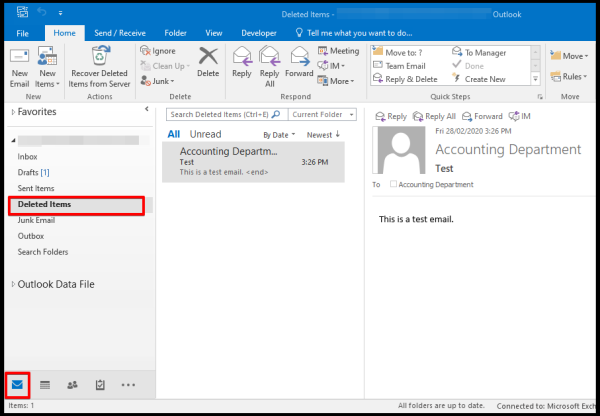 recover deleted emails outlook desktop application