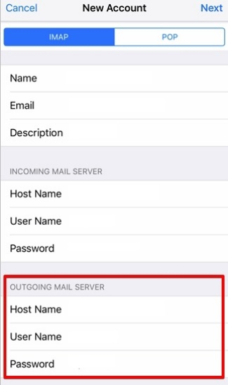 setting up iOS devices to check your email step 9