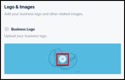 delete icon to delete uploaded logo and images on business directory settings