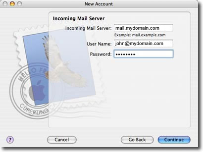 mac os mail setup step 6