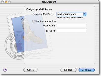 mac os mail setup step 7