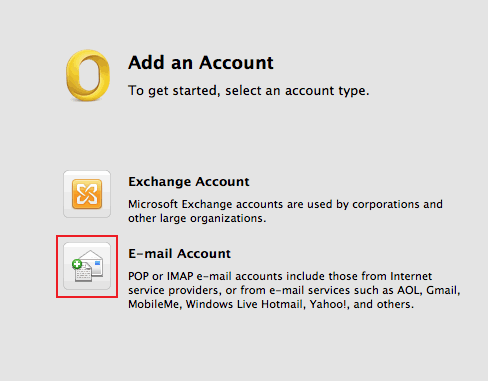 setting up outlook 2011 for mac 3