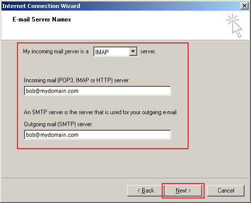 outlook express setup step 5