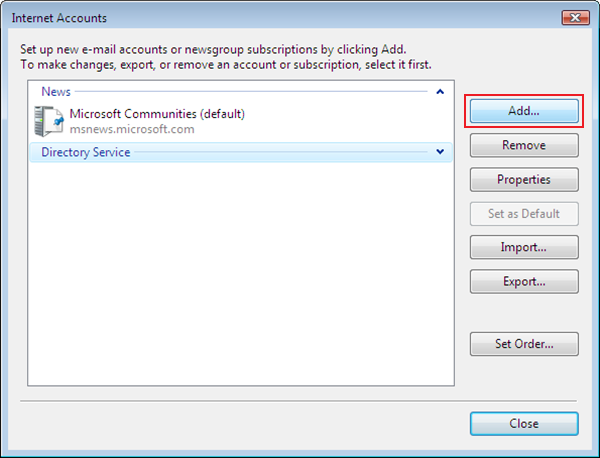 setting up vista to check email step 3