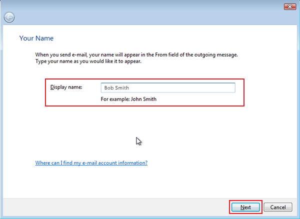 setting up vista to check email step 5