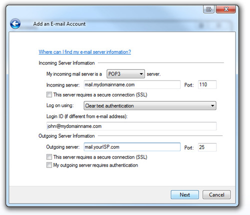 windows live mail step 6