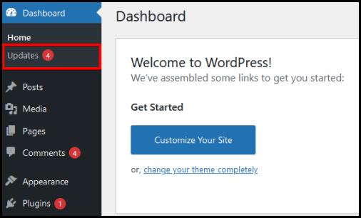 updating themes via WordPress Dashboard