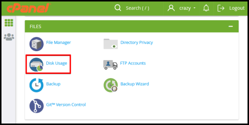 how to view web hosting storage limts