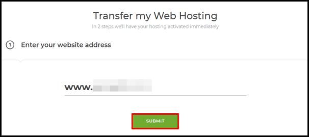 step 1 to transfer website