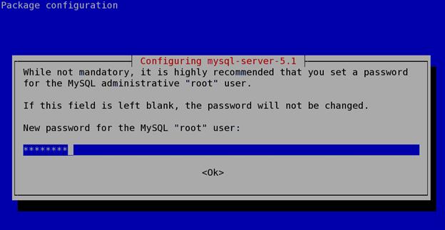 install a mysql database server on debian or ubuntu step 5