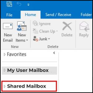 access shared mailbox on outlook desktop